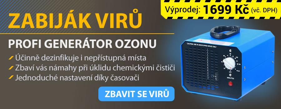 Koupit generátor ozonu a zbavit se virů