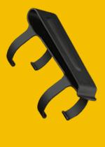 Kovový klip a poutko k teleskopickému obušku